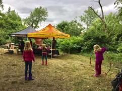 Tents at the Kingman Island Bluegrass and Folk Festival