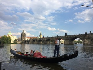 Gondolas in Prague (believe it or not)