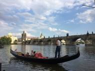 Gondols in Prague (believe it or not)