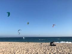 Windsurfers in Valdevaqueros beach