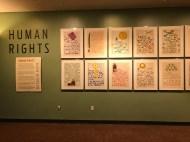 Human Rights exhibit at UN headquarters