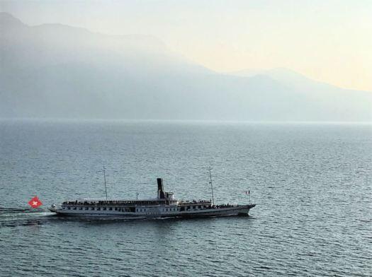 A steamboat on lake Léman