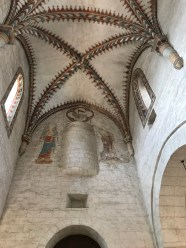 Inside the abbey of Romainmôtier