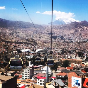 Taking the cable car is one of my favorite things when in La Paz