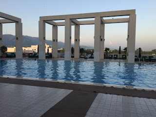 Swimming pool at the Serena hotel