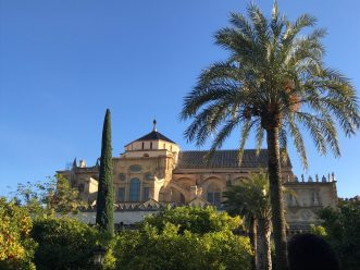 A view to the Mosque-Cathedral from the Patio de los Naranjos