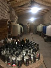 Inside the winery cellar
