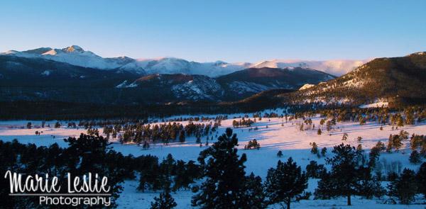 Sunrise over Beaver Meadows Rocky Mountain National Park
