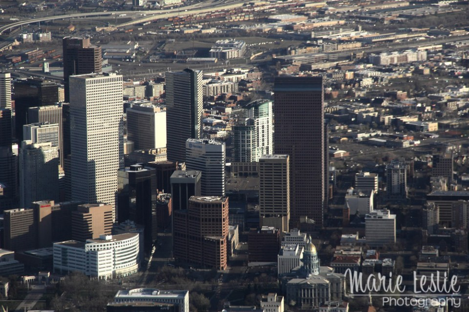 aerial photography downtown denver 2