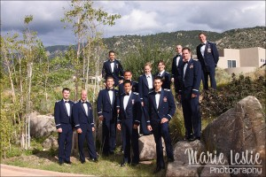 groomsmen in air force uniform