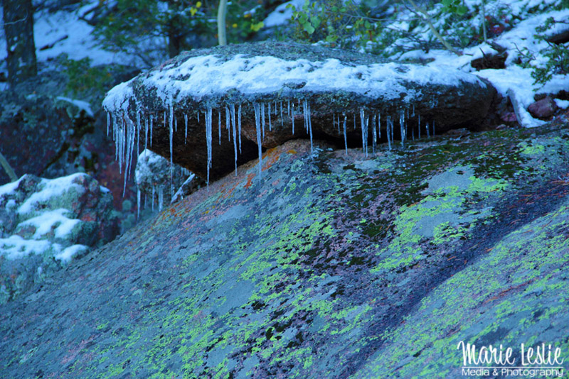 icicles near Devils Head Fire Tower