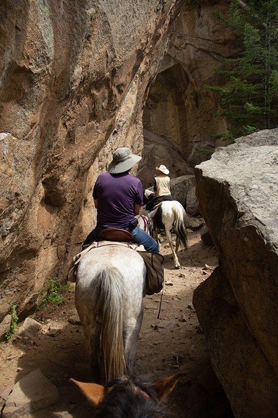 Riding through the Arches
