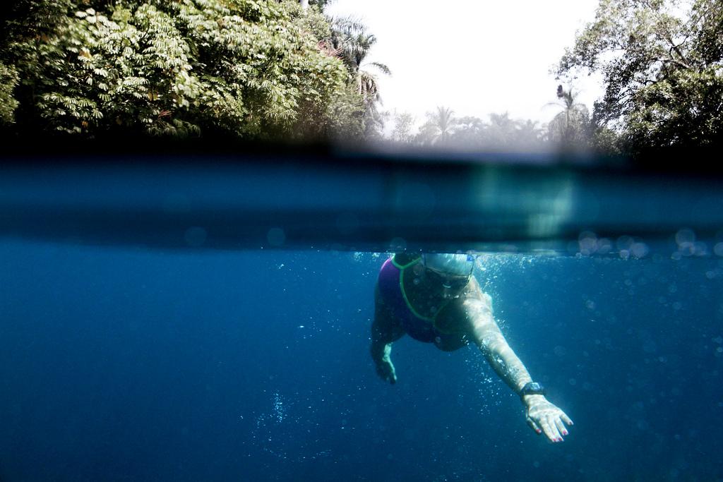 Ocho horas que voy a nadar en este lugar... así me veo!