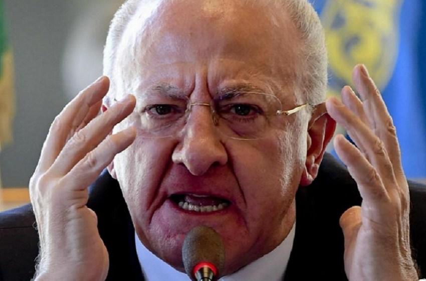 """Covid19, Il presidente De Luca: """"Il Governo dica chiaro e forte di rimanere a casa"""""""