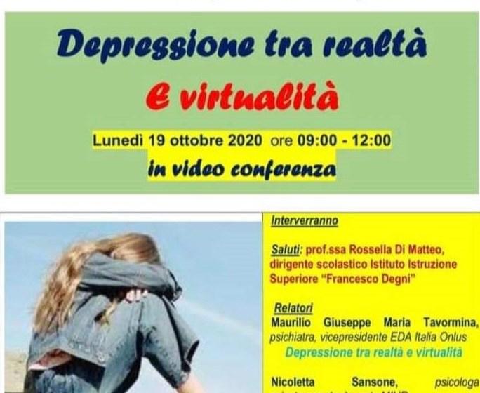 La depressione tra realtà e virtualità: convegno a distanza per gli studenti del Degni