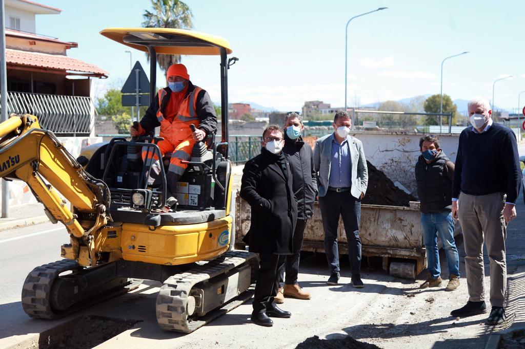 Gori, potenziamento della rete idrica in via Bolla e in via Casa dell'Acqua a Volla