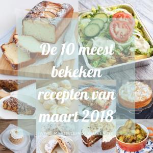 De 10 meest bekeken recepten van maart 2018