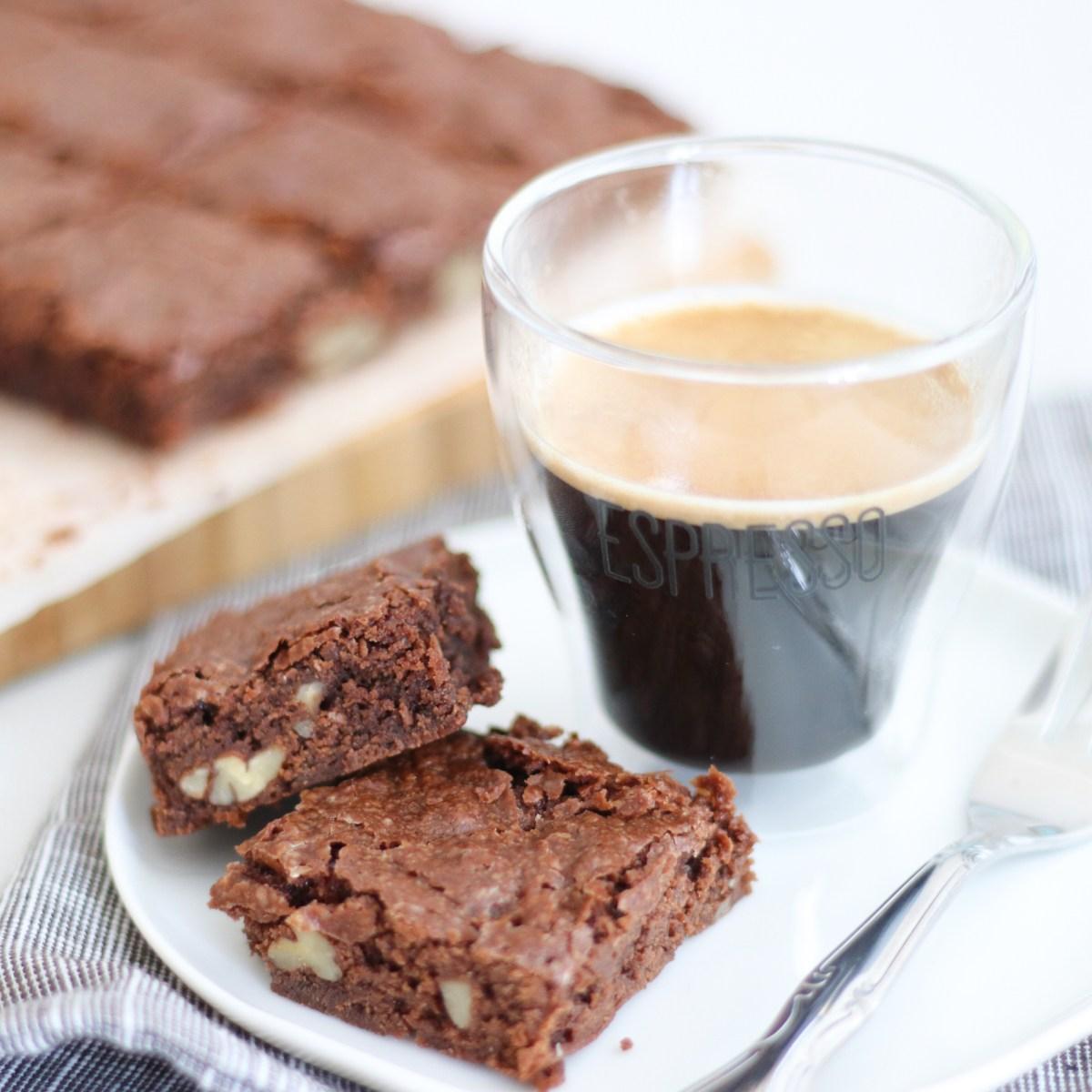 Brownies met espresso