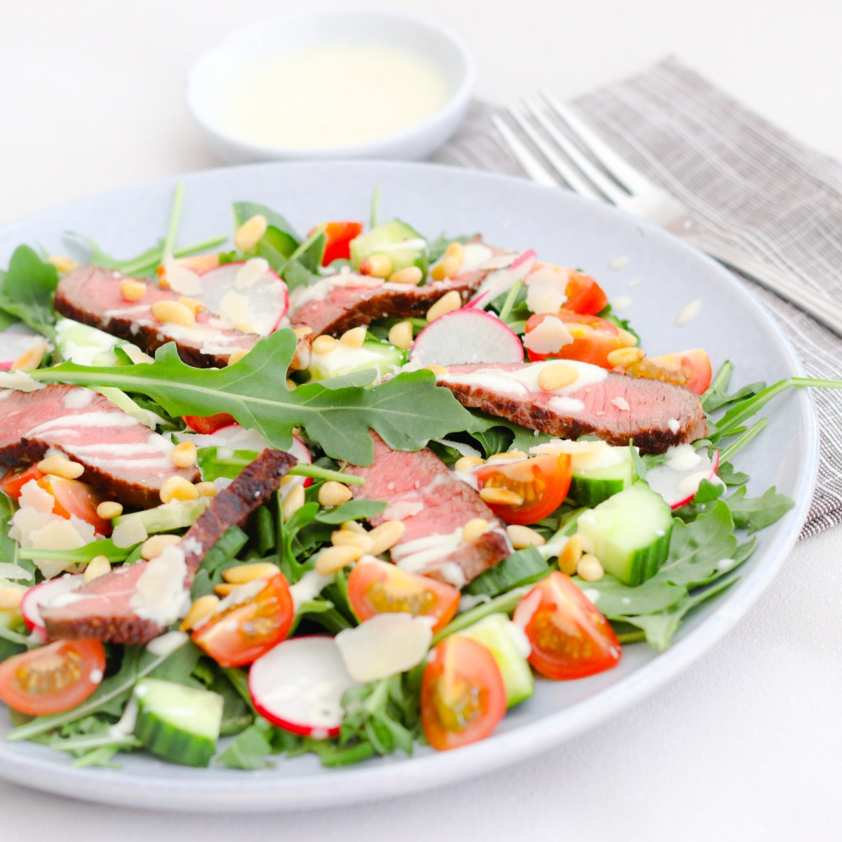 Rumpsteak salade