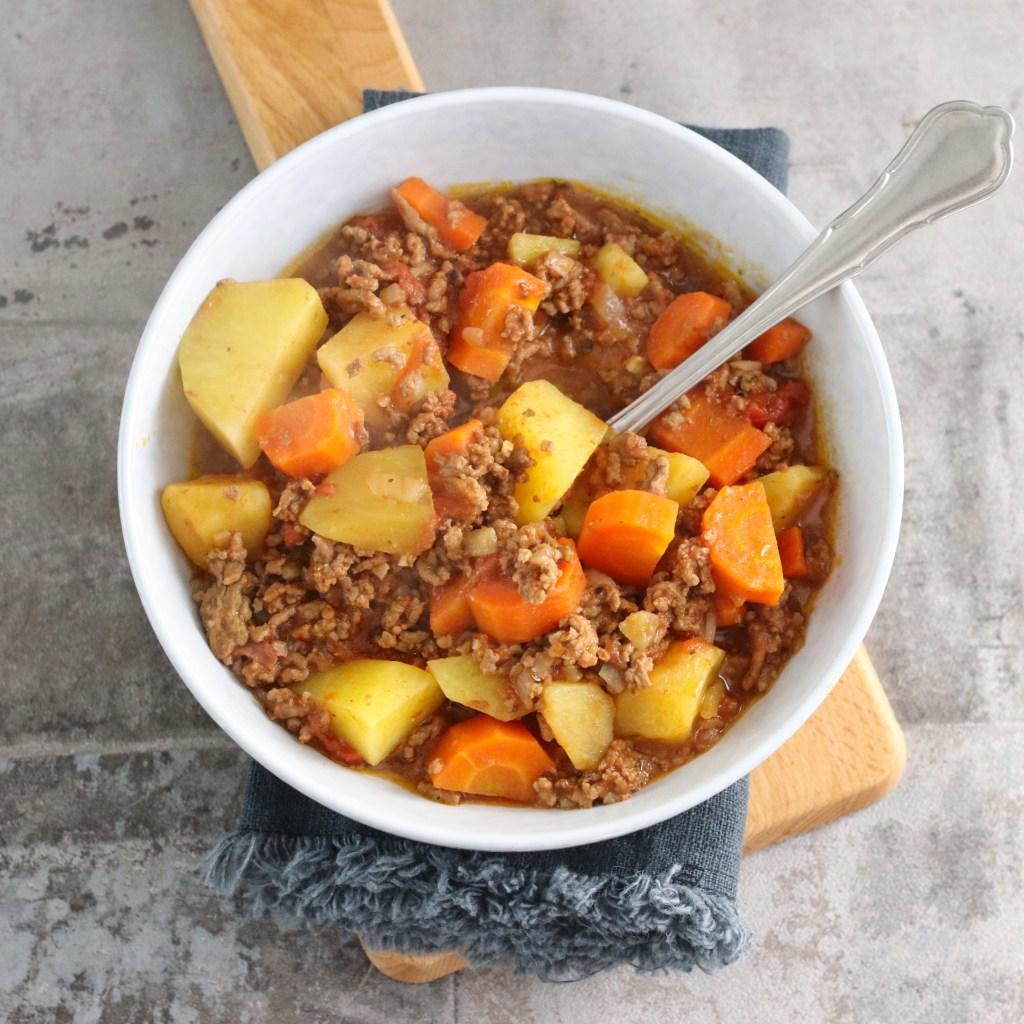 Poor man's stew slowcooker recept