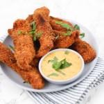 Chicken tenders met honing-mosterdsaus