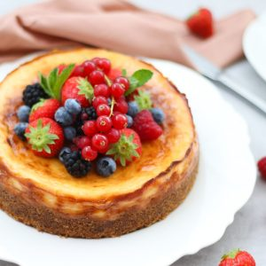 New York cheesecake met zacht fruit