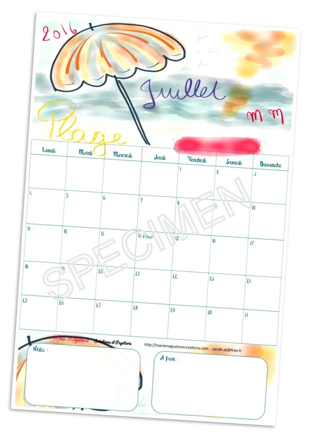 Calendrier juillet 16 Marie-Maguelone