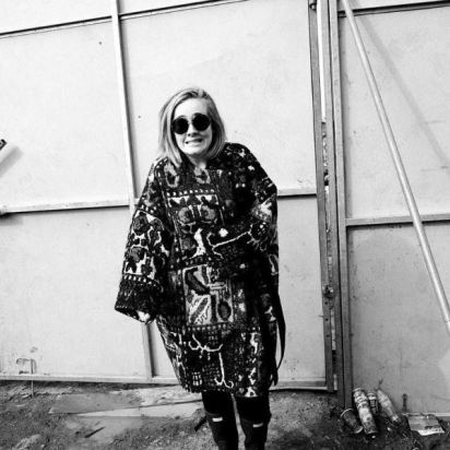 Adele for sure knows how to handle a rainy day; Instagram: Hunterboots