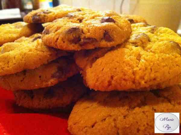Recette de cookies pépites de chocolat au lait