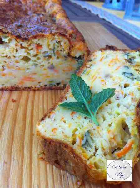 Cake aux courgettes carottes et menthe fraîche du jardin - la recette