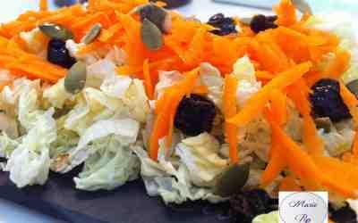 Chou chinois, carotte et petits trésors… Une salade fraîcheur si bonne !