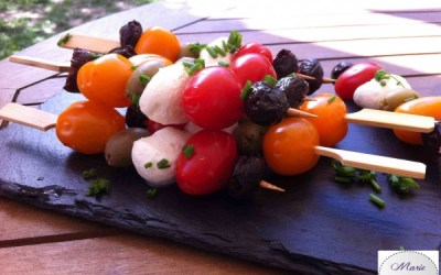 Brochettes apéritives… Marie Pop croque le soleil !