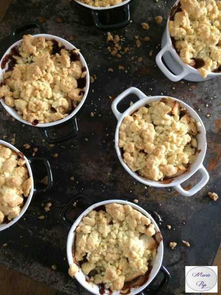 Crumbles pomme chocolat - la recette