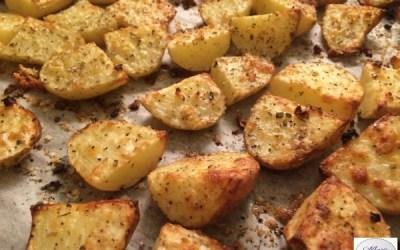 Pommes de terre à l'ail  et aux herbes… Marie Pop adore les p'tites nouvelles !