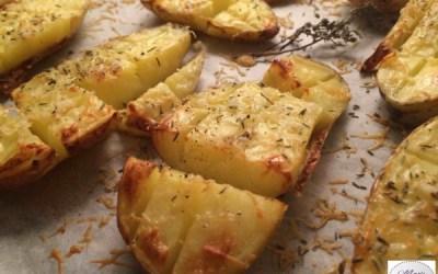 Pommes de terre quadrillées au Parmesan… Marie Pop les grignote en B2 ou en D8 !