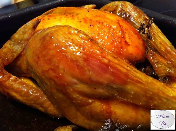 Poulet ou Dinde au sirop d'érable - la recette