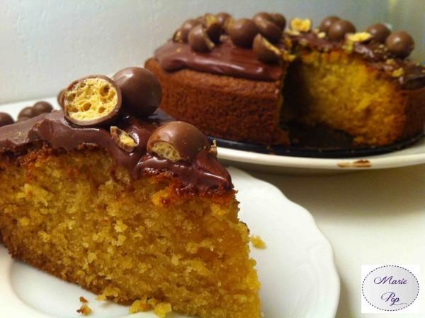 Gâteau à la Vanille et billes de chocolat malté ! Je craque ou je fond ?!