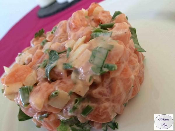 Tartare de Saumon gourmand ! Marie Pop s'la joue Bristonomie…
