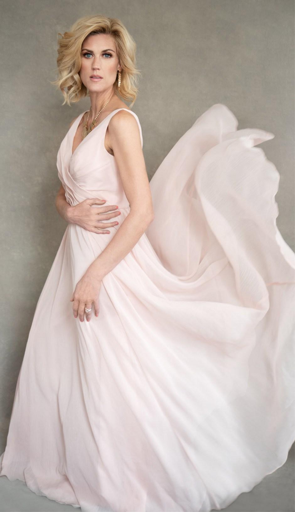 Women's Portrait in Pink Dress