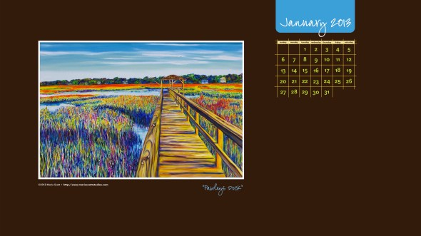 PAWLEYS DOCK • 36 inch x 24 inch commissioned painting • ©2012 Marie Scott