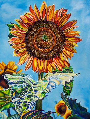 SUNFLOWER FLAME • Original Oil Painting ©2013 Marie Scott