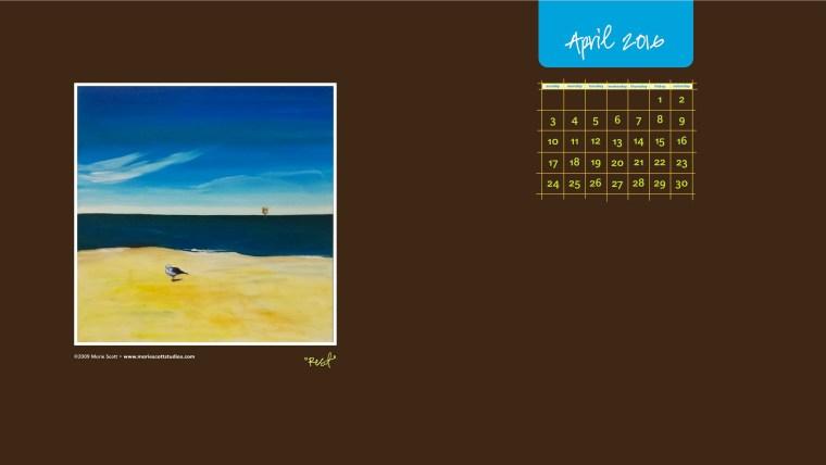 April 2016 Desktop Calendar