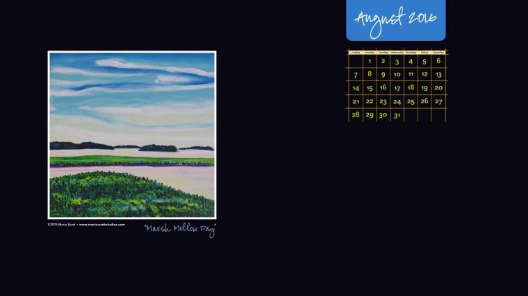 AUGUST 2016 Desktop Calendar
