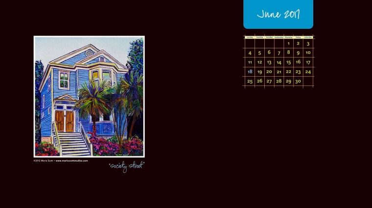 JUNE 2017 Desktop Calendar