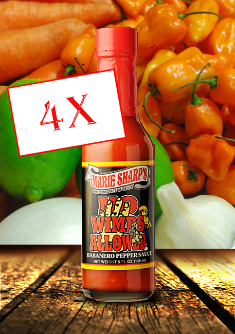 Marie Sharp's No Wimps hot sauce