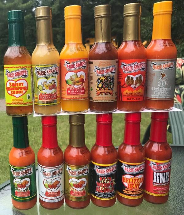 12 hot sauce Marie Sharp's