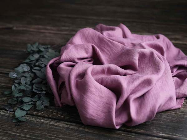 Leinen gewaschen Uni 200 g/m2 | Dusty Rose