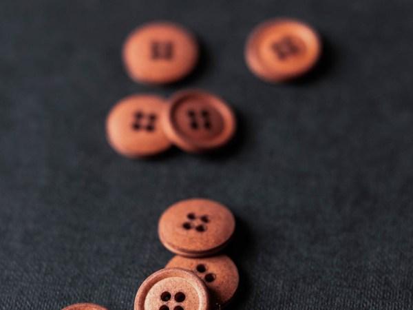 Cotton Button 15mm | Maud