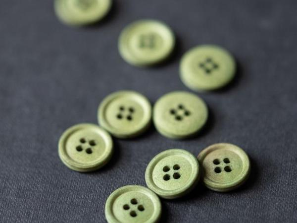 Cotton Button 15mm | Bowling green