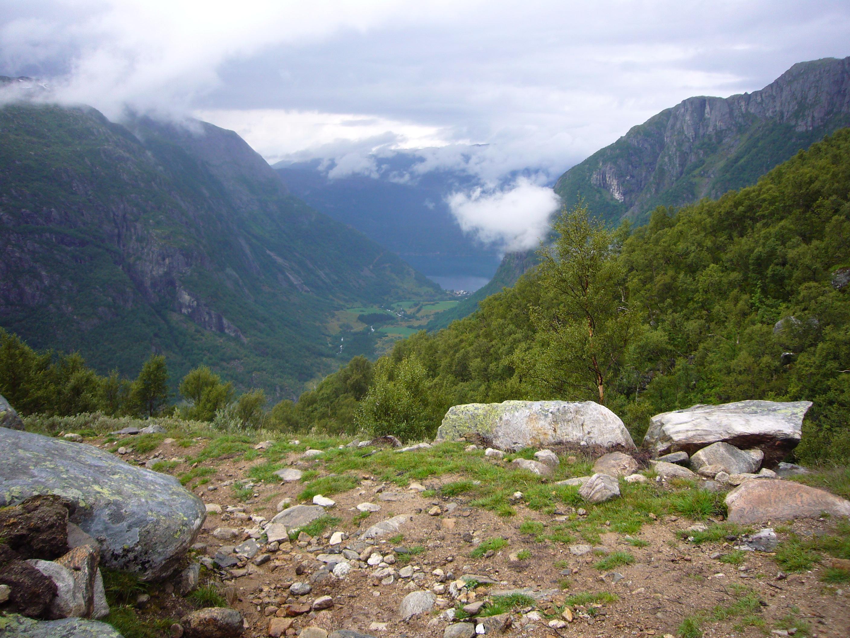 Utsikt ut til Maurangerfjorden fra Gammelsetra